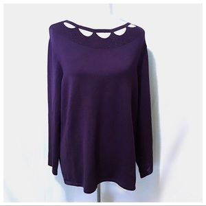 Like New ~Chico's Cut Out Sweater - Size 3 (14/16)